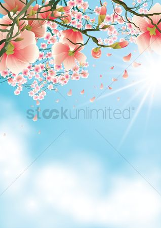 Copy spaces : Flowers background