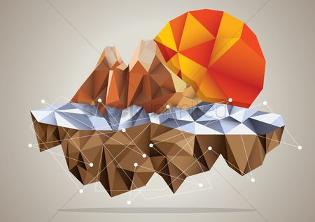 Faceted : Flying mountain