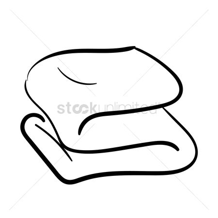 Households : Folded towel