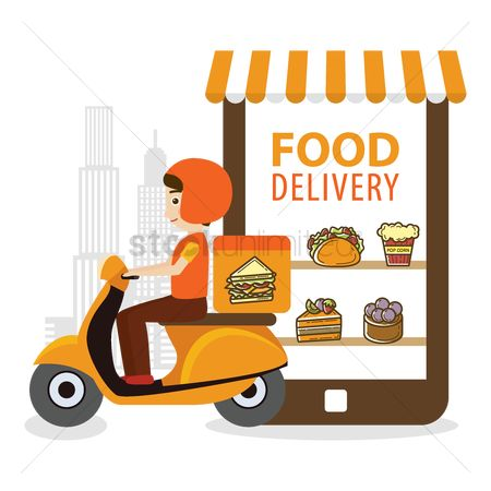 Croissants : Food delivery concept