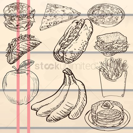 Bananas : Food icon set