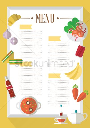 Croissant : Food menu template