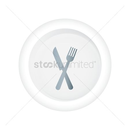 Dinner : Fork and knife icon