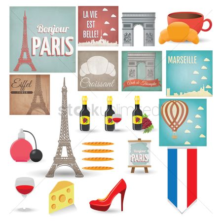 Accessories : France icon set