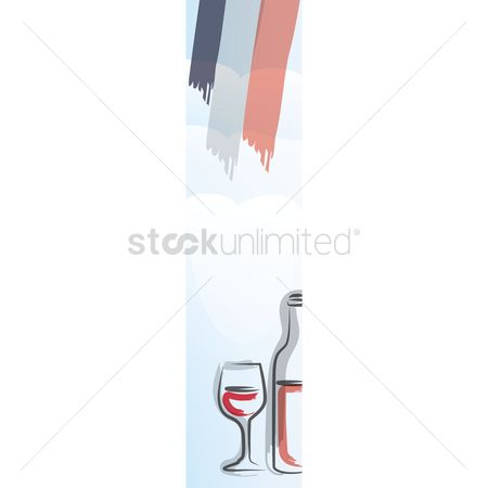 Red wines : France ornament banner