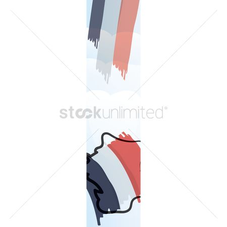 Nationality : France ornament banner