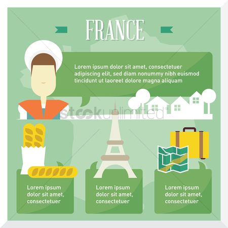French food : France travel infographic