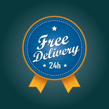 Hours : Free delivery badge