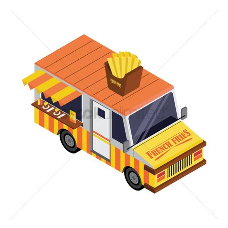 Awning : French fries truck