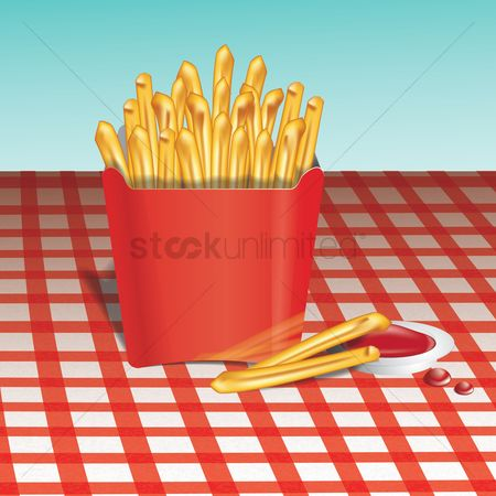 French fries : French fries with sauce