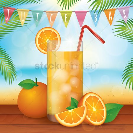 Summer : Fresh orange juice