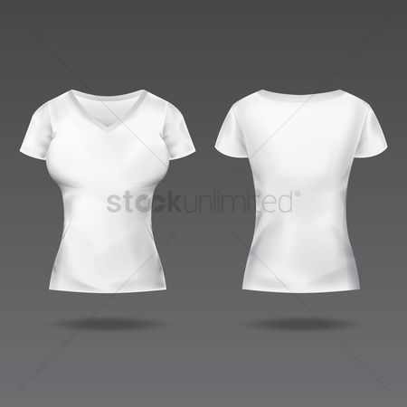 Backview : Front and back view of women s t-shirt