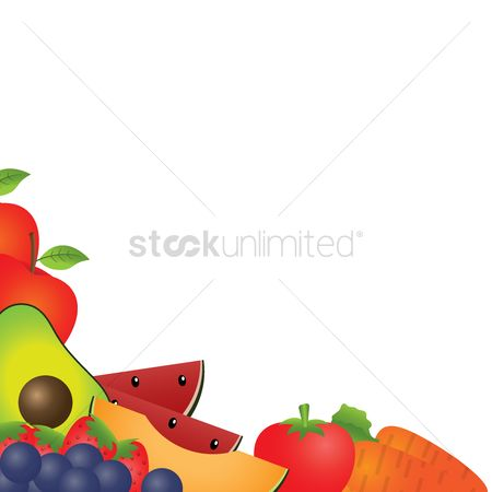 Blueberry : Fruits and vegetable background design