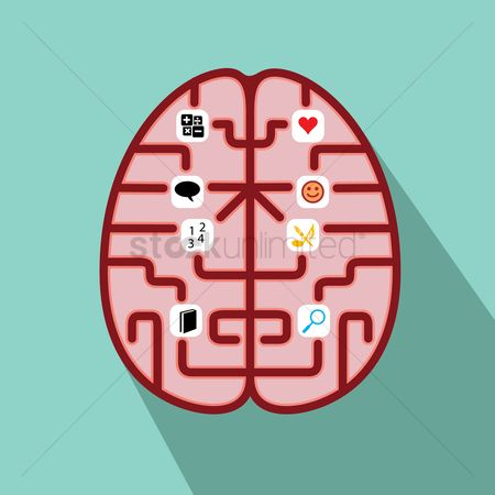 Love speech bubble : Functions of brain