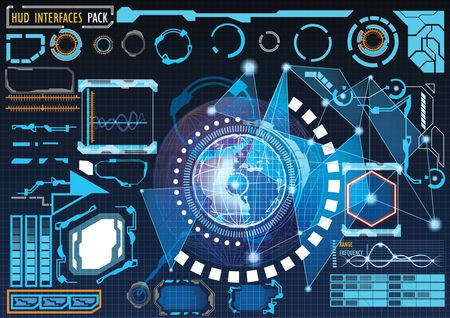 Head : Futuristic graphic user interface