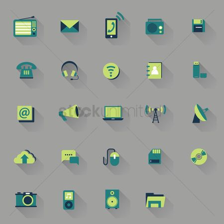 Wifi : Gadgets and technology icons