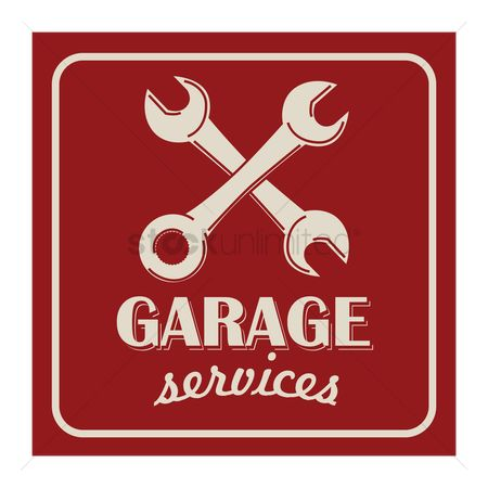 Wrenches : Garage services background