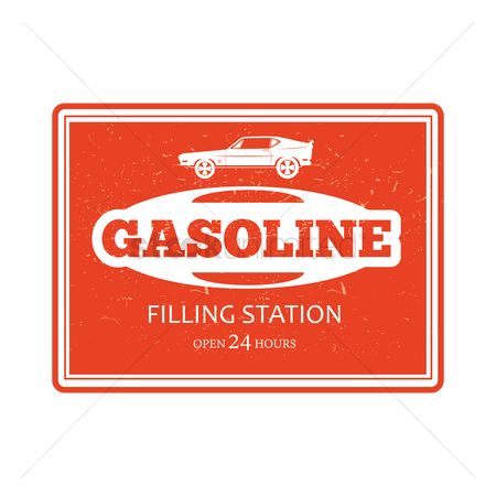 Old fashioned : Gasoline filling station sign