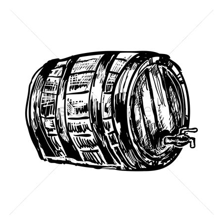 Pub : German beer barrel with tap
