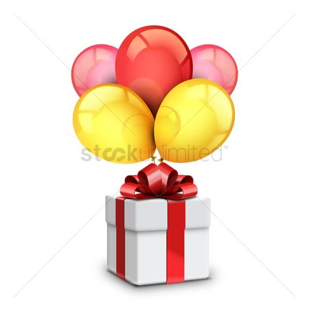 Surprise : Gift with balloons