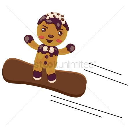 Skateboard : Gingerbread skating