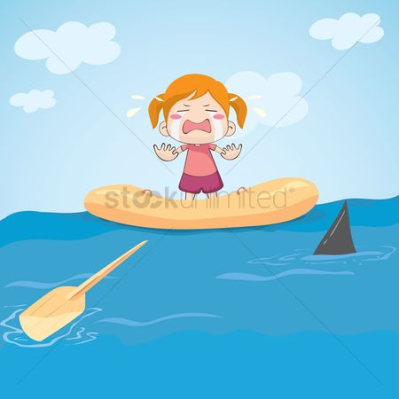 Paddle : Girl crying