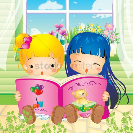 Read : Girls reading book