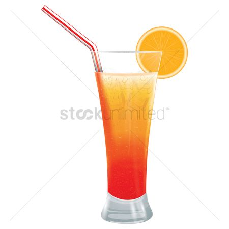 Straw : Glass of juice
