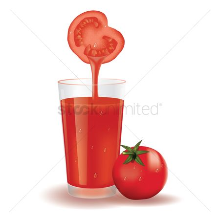 Dripping : Glass of tomato juice