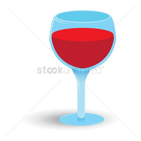 Red wines : Glass of wine