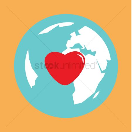 Heart : Globe with a heart icon