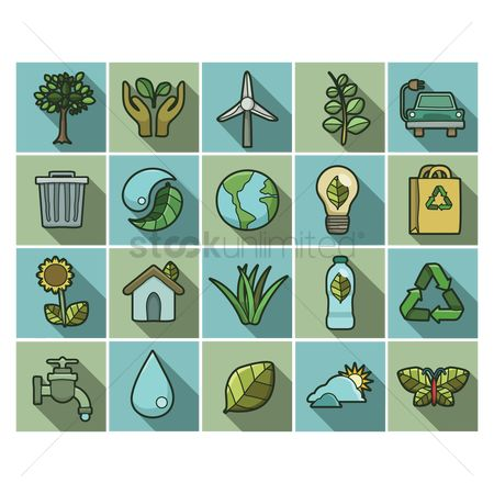 Smart : Go green icons