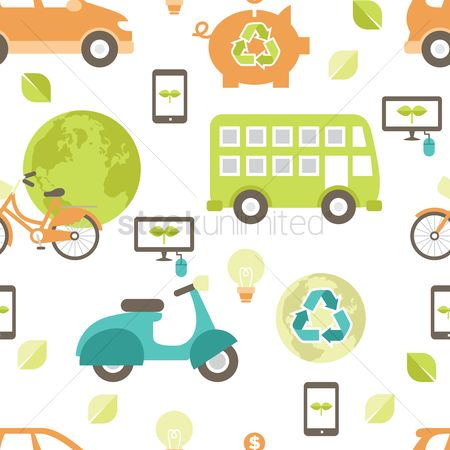Bicycles : Go green theme background
