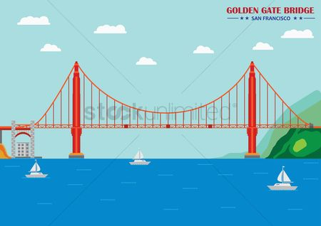 Architectures : Golden gate bridge  san francisco