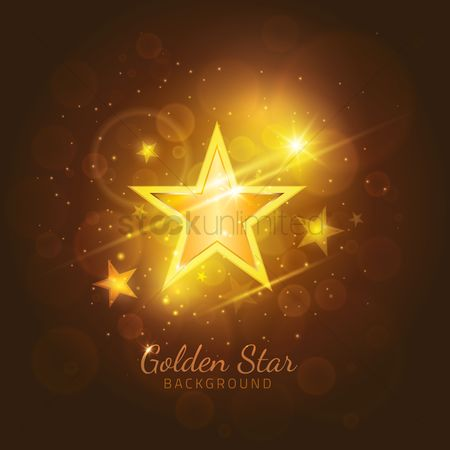 Party : Golden star background