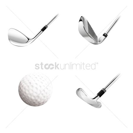 Recreation : Golf ball and clubs