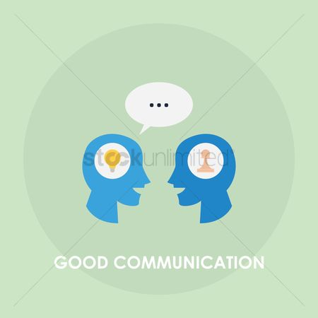 Talking : Good communication concept