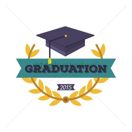 Laurel : Graduation hat with banner