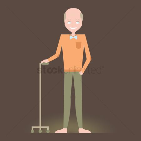 Grandparent : Grandfather with a cane
