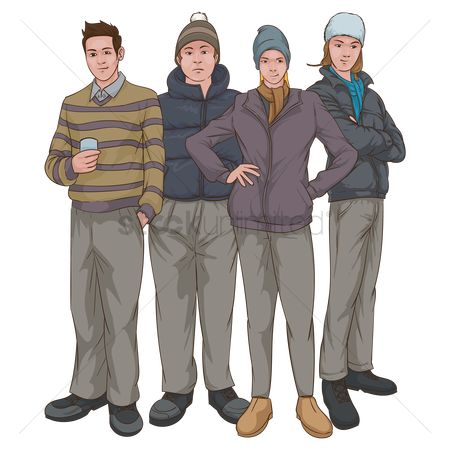 Trendy : Group of people in casual clothing