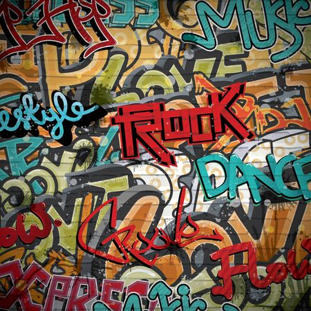 Brick : Grunge graffiti background