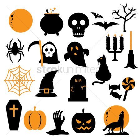 Broom : Halloween icon set