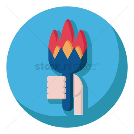 Torch : Hand holding torch