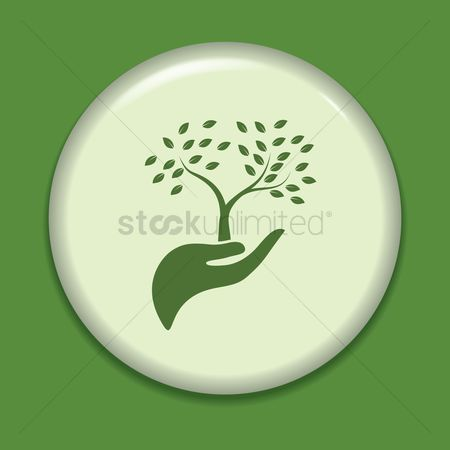 Save trees : Hand holding tree icon