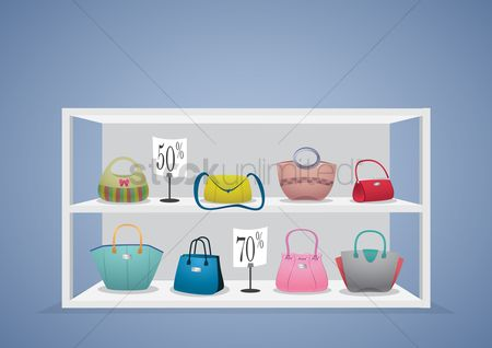 Racks : Handbags on display