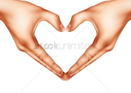 Romance : Hands making a heart shape