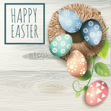 Festival : Happy easter card
