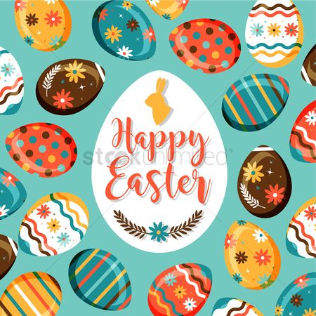 Traditions : Happy easter design