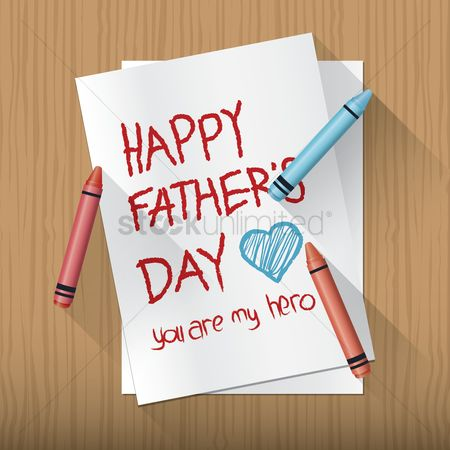 Crayons : Happy father s day greeting
