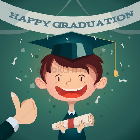 Achievement : Happy graduation poster